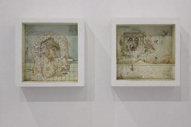Saba Masouminan, Untitled, 2019, tecnica mista e polimeri espansi su legno, 41x41x15 cm Courtesy Villa Contemporanea, Monza