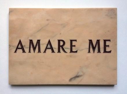 Salvo, Amare Me, 1971, incisione su marmo, 29.5x42 cm Edizioni Multipli - Torino, 20 ex. © Archivio Salvo