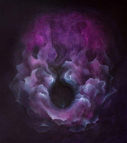 Thomas Scalco, Origine, 2019, tecnica mista su tela, 150x130 cm Courtesy l'artista