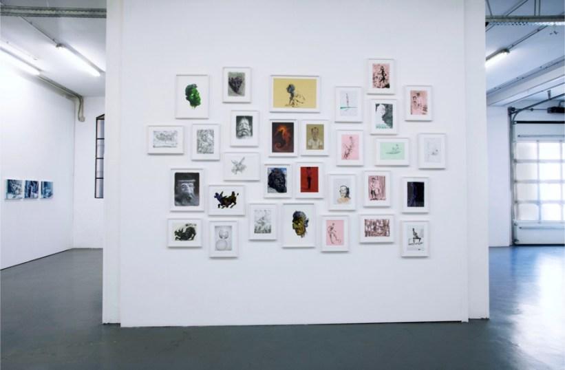 Alessandro Bazan –Fulvio Di Piazza. Astratta, veduta della mostra, Galleria Giovanni Bonelli, Milano