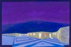 Cioni Carpi, Città distante: Clwyd con stanza rossa, 1987, tecnica mista su tela, 48.5x72.5 cm Collezione privata credito fotografico ©AlbertoMessina2020