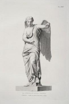 La Vittoria Alata di Brescia. Tavole pubblicate nel volume Museo Bresciano Illustrato 1838. Disegni di G. Rottini; incisioni di P. Anderloni e A. Alfieri