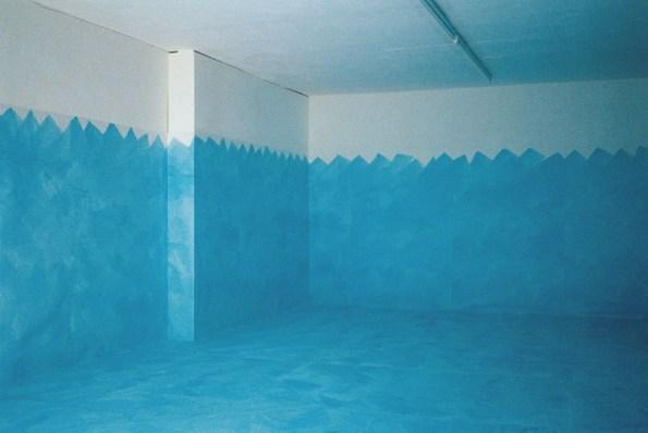 Antonio Scaccabarozzi, Grande acquerellato, 1989, acquerello su carta, installazione ambientale, Galerie Katrin Rabus (Bremen) Courtesy Archivio Antonio Scaccabarozzi