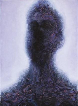 Claudio Zorzi, Ritratto di Marco Bacoli n.3, olio su tela, 30x40 cm, 2020