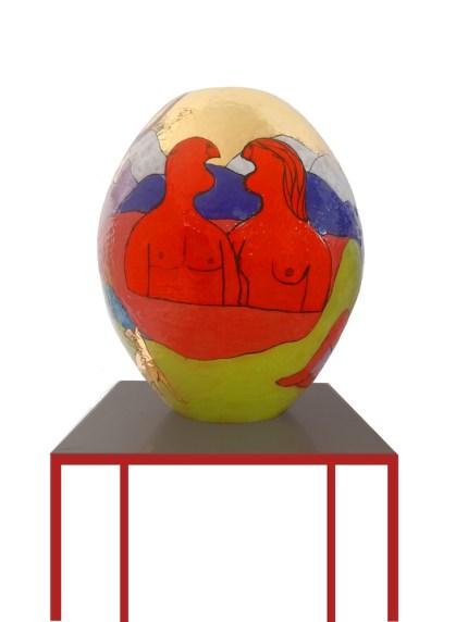 Fabrizio Dusi, Golden Age, 2021, vaso in ceramica