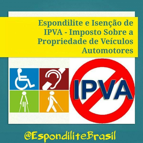 Espondilite e Isenção de IPVA – Imposto Sobre a Propriedade de Veículos Automotores