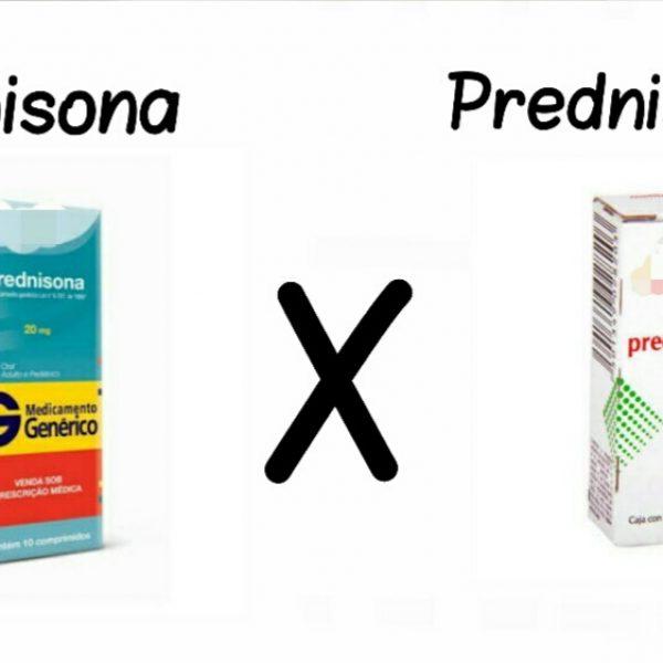 Posso substituir prednisona por prednisolona?