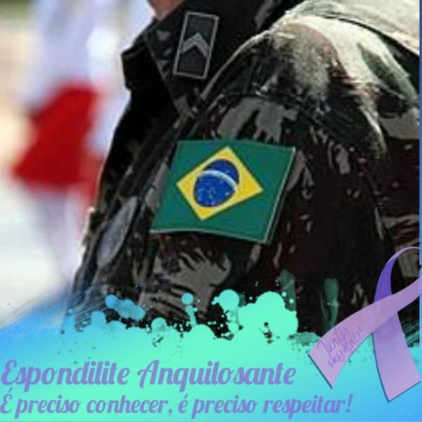 Militar desincorporado após diagnóstico de Espondilite