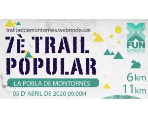Trail Popular La Pobla de Montornès 2020 @ Poliesportiu de La Pobla de Montornès