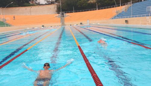 Piscina olímpica aquecida do complexo esportivo do Pacaembu (Esportividade)