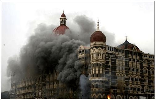 Taj Hotel Under Flame