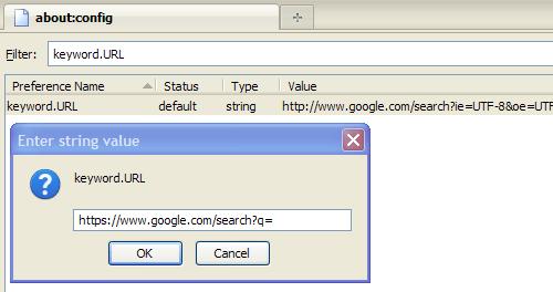image firefox SSL Google Search