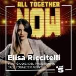 """Elisa Riccitelli su Canale 5, sarà giudice di """"All Togheter Now""""."""