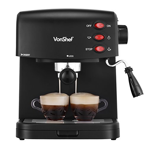 Best latte machine: VonShef 15 Bar Pump Espresso Coffee Maker Machine Review