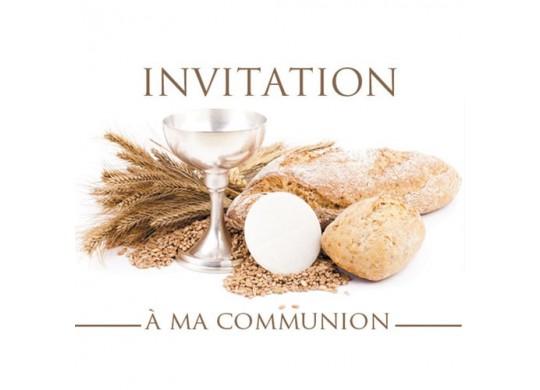 cartes d invitation a ma communion nos services articles de fete