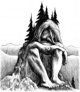 Troll forêt esprit de la nature