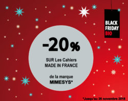 BLACK FRIDAY BIO CAHIERS MIMESYS