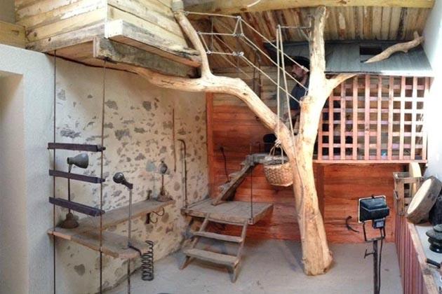 Cabane Larbre Entre Dans La Chambre Esprit Cabane