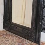 Grand Superb Miroir Cheminee 159x88cm Noir Brilliant Pour Palais Style Ancien Esprit De Chateau