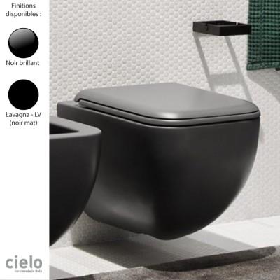 cuvette wc suspendue design shui comfort 37x55 cm ceramique noire