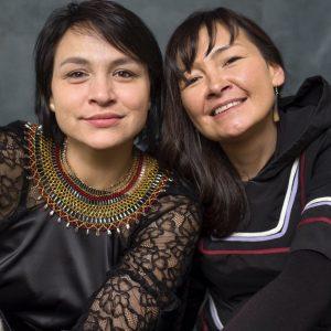 Evie Mark and Akinisie Sivuarapik