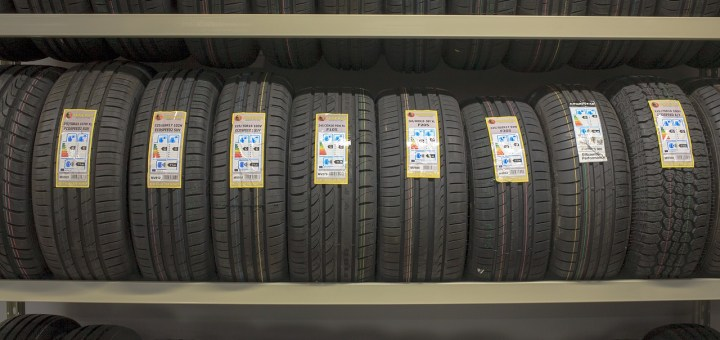 Car Tires Product Shelf Summer Tires