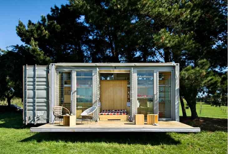 transformer un conteneur maritime en une maison pique pour 1600 euros la pilule rouge. Black Bedroom Furniture Sets. Home Design Ideas