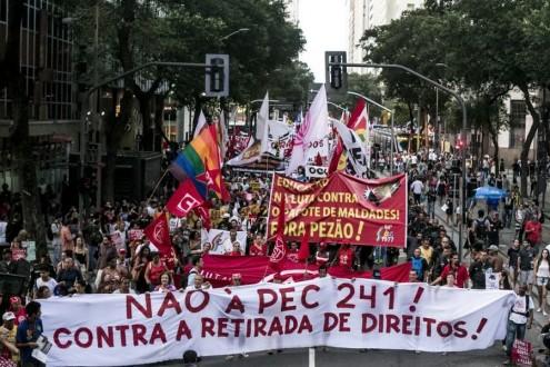 Rio Falido, manifestação no Rio de Janeiro - Foto Mídia Ninja