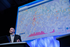 Gorman uses Esri's new ArcGIS GeoEvent Processor for Server to gain real-time insight into social media.
