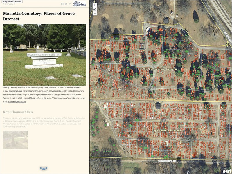 ArcGIS Keeps Past Alive in Municipal Cemetery   ArcNews To tell the cemetery s stories to the public  the GIS team used Esri Story  Map apps to merge its newly collected data with an existing stack of  historical