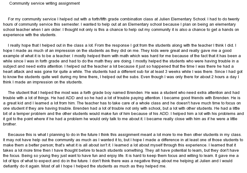 community service conclusion essay write better english essays into the wild essay