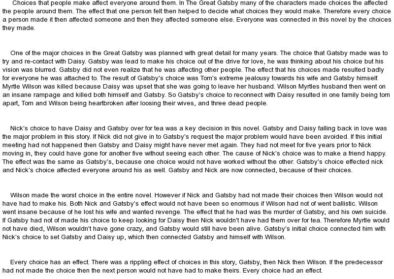 essay the great gatsby