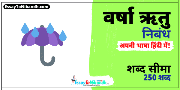 Essay In Hindi Rainy Season 250 Words