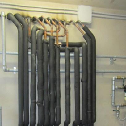 Distribuzione impianto di riscaldamento in centrale