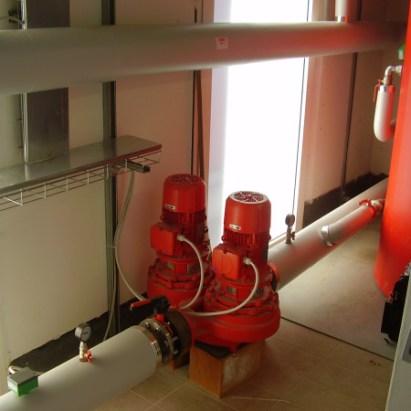 Pompe impianto di riscaldamento industriale