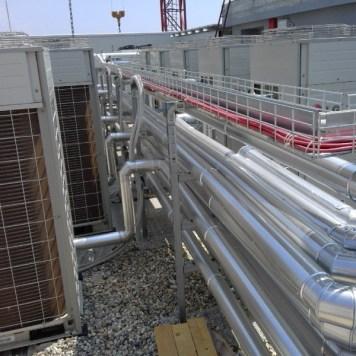 collegamento impianto clima industriale