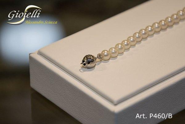 P460-B-Bracciale in perle naturali