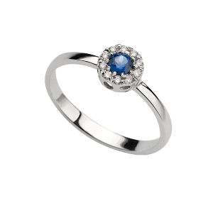 anello zaffiro e diamanti messina