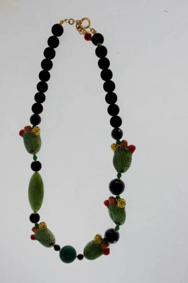 Collana in ceramica e pietra lavica, gioielleria messina