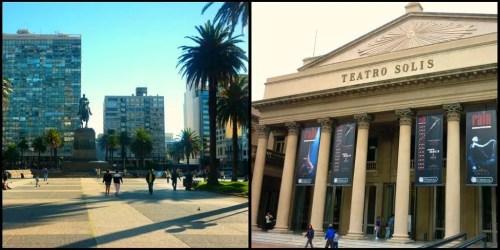 Plaza Independencia e Teatro Solis