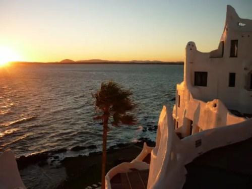 Pôr-do-sol na Casapueblo