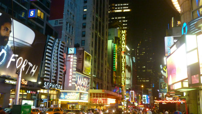 Times Square durante a noite