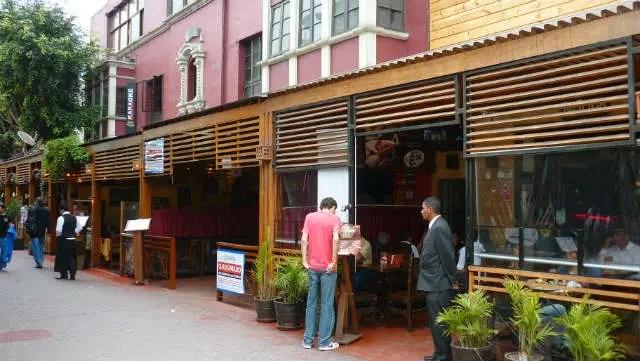 Calle da las Pizzas - Lima