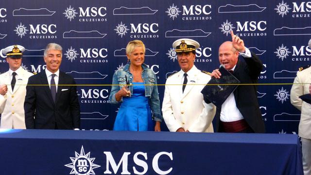 Inauguração do MSC Preziosa (Foto: Esse Mundo É Nosso)