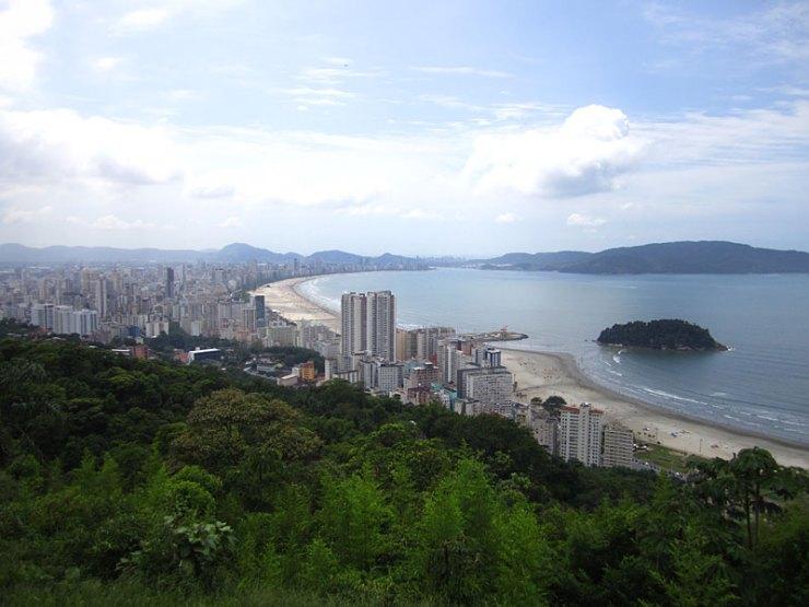 Vista da pista de voo livre em Santos e São Vicente (Foto: Esse Mundo É Nosso)