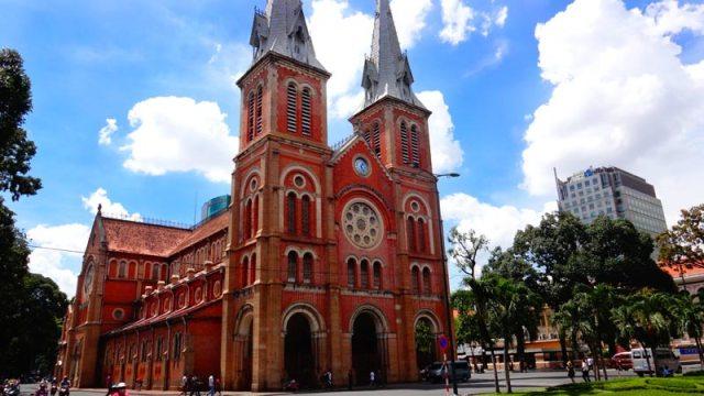 Catedral de Notre Dame em Ho Chi Minh, Vietnã (Foto: Esse Mundo É Nosso)