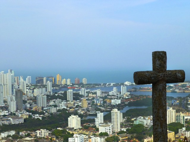 Mirante em Cartagena: Convento Santa Cruz de La Popa (Foto: Esse Mundo É Nosso)