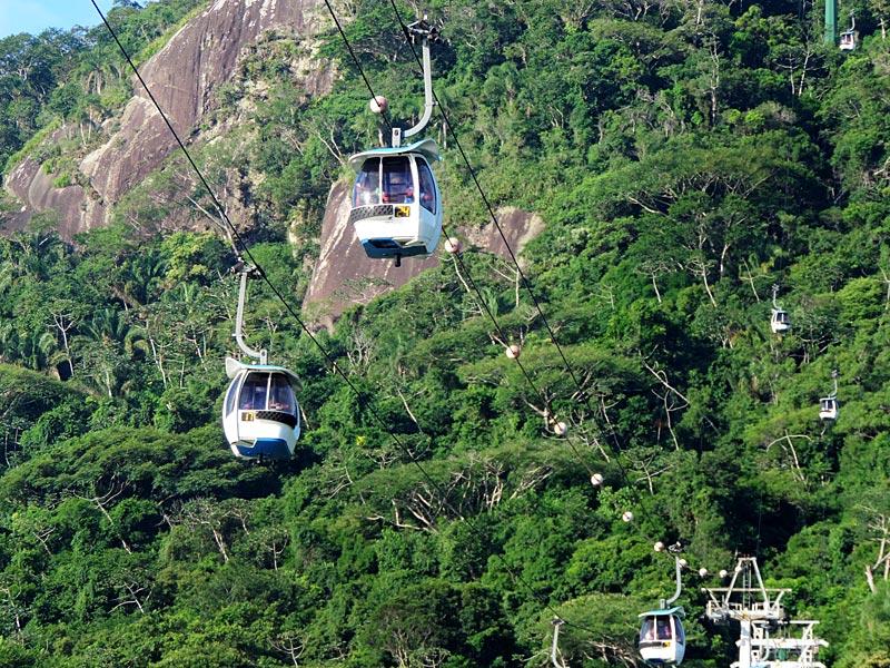 Bondinho do Parque Unipraias, Balneário Camboriú (Foto: Esse Mundo É Nosso)