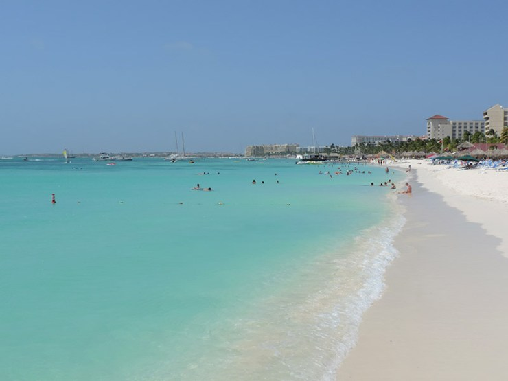 Praias de Aruba - Palm Beach (Foto: Esse Mundo É Nosso)