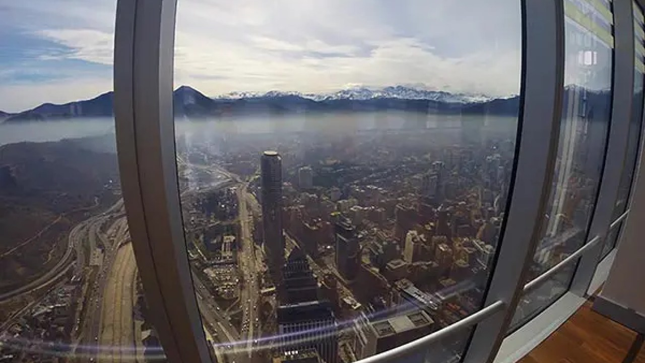 Visita ao Sky Costanera em Santiago do Chile